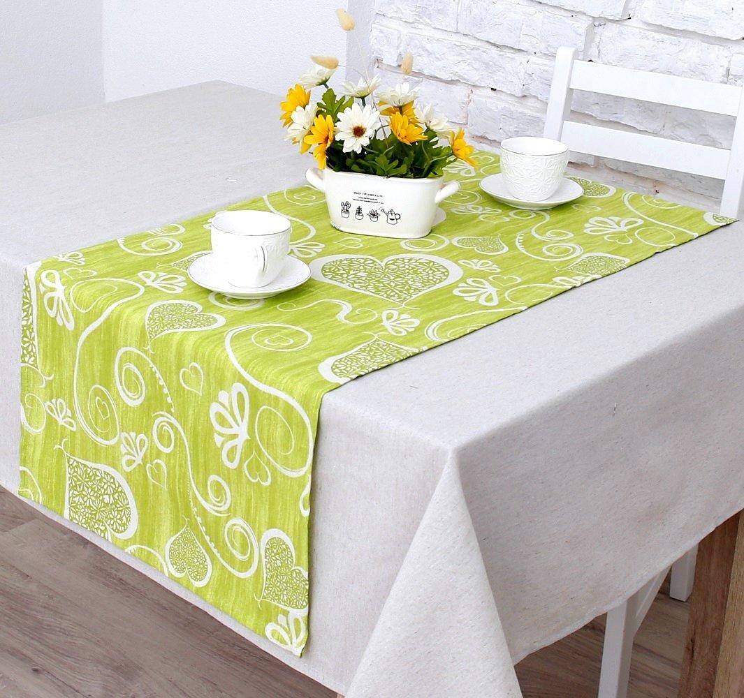 """Дорожка на стол """"Амур""""-3н, салатовый (D.Am-n3)"""
