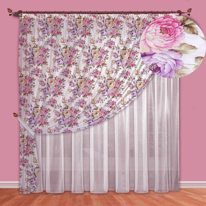 - 60% SALE     Комплект штор №088 Фиолетовый (rt-100037)
