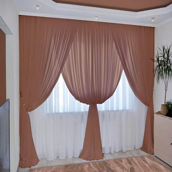 - 60% SALE     Комплект штор №092 Шоколад (rt-100016)