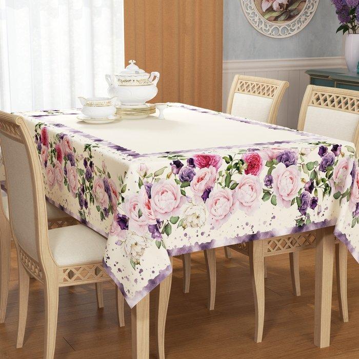 """Скатерть """"Фиолетовые розы"""", 140*180 см (s-102549)"""