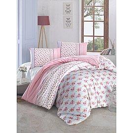 """Комплект постельного белья """"RANFORCE AHSEN"""" (2 спальный), розовый"""