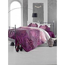 """Комплект постельного белья """"RANFORCE LEYAN"""" (2 спальный), бордовый"""