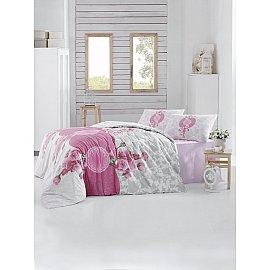 """Комплект постельного белья """"RANFORCE ROSEN"""" (2 спальный), розовый"""