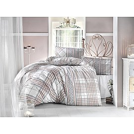 """Комплект постельного белья """"RANFORCE VIOLA"""" (2 спальный), коричневый"""