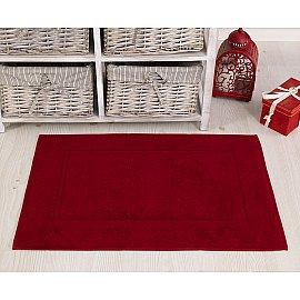 """Махровое полотенце для ног """"KARNA GREN"""", бордовый, 50*70 см"""