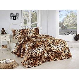 """КПБ """"RANFORCE LEOPAR"""" 50х70*1 (1.5 спальный), коричневый"""