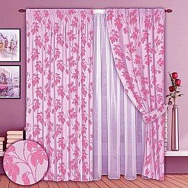 Комплект штор №008 Розовый