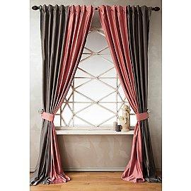 Комплект штор КИДМАН, розовый, 140*270 см