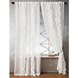 Комплект штор ИВИ, белый, 200*270 см