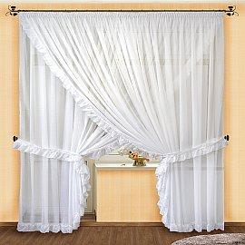 Комплект штор №014 Белый