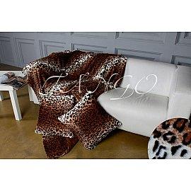 Покрывало меховое Tango Леопард, темно-коричневый, 160*220 см
