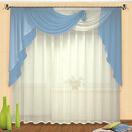 Комплект штор №046 Голубой