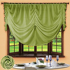 Шторы для кухни №049 Зеленый