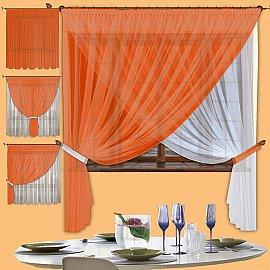 Шторы для кухни №067 Оранжевый