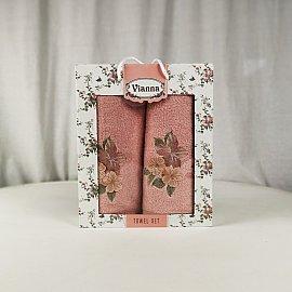 Комплект махровых полотенец Vianna Luxury Series дизайн 15 (50*90; 70*140)