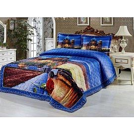 Покрывало Танго Сатин-панно, синий, 220*240 см