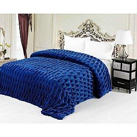 Покрывало меховое Шарпей, синий, 220*240 см
