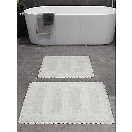 """Набор ковриков для ванной """"KARNA LENA"""" (50*70; 60*100), кремовый"""