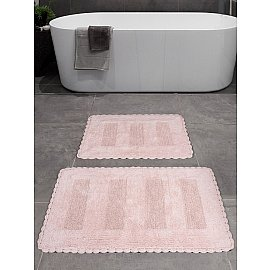 """Набор ковриков для ванной """"KARNA LENA"""" (50*70; 60*100), розовый"""