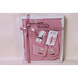 """Комплект для сауны женский """"KARNA PARIS"""", грязно-розовый"""