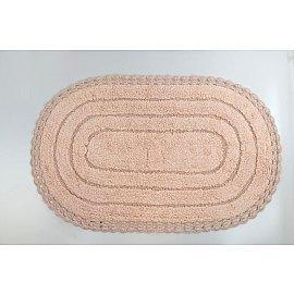 "Коврик для ванной кружевной ""MODALIN YANA"", пудра, 60x100 см"