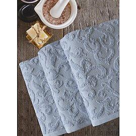 Полотенце махровое TexRepublic Cotton Piramid, серый, 50*90 см