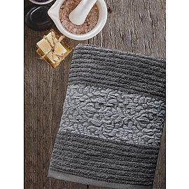 Полотенце махровое TexRepublic Cotton Barok, темно-серый, 50*90 см