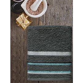 Полотенце махровое TexRepublic Cotton Line, темно-серый, 50*90 см