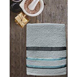 Полотенце махровое TexRepublic Cotton Line, серый, 50*90 см
