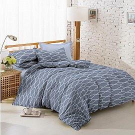 КПБ поплин combo Step (1.5 спальный), серый