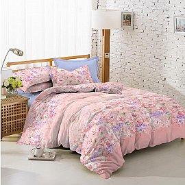 КПБ поплин combo Minuet (1.5 спальный), розовый