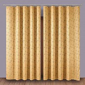 Комплект штор 1110001, золотой
