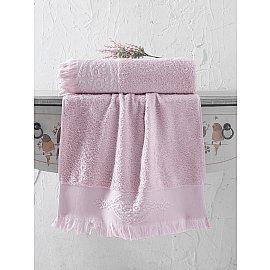 "Полотенце махровое жаккард ""KARNA DIVA"", грязно-розовый, 70*140 см"