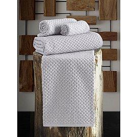"""Полотенце махровое с жаккардом """"KARNA DAMA"""", серый, 90*150 см"""