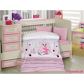 Комплект постельного белья Altinbasak AYICIK (Новорожденный), розовый