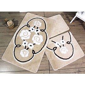Набор ковриков для ванной DO&CO JADORE (50*60; 60*100), бежевый