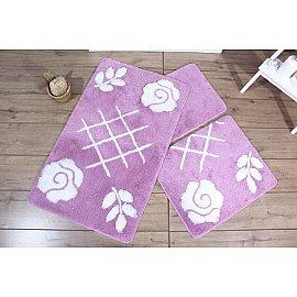 Набор ковриков для ванной DO&CO PASTEL (50*60; 60*100), лиловый