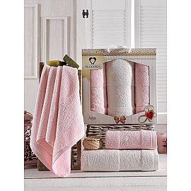 Комплект махровых полотенец Two Dolphins Asiya (50*90*2; 70*140), светло-розовый