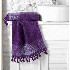 """Полотенце махровое жаккард """"KARNA OTTOMAN"""", фиолетовый, 70*140 см"""