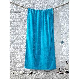 """Полотенце пляжное с велюром """"KARNA ADRIAN"""", v5, 75*150 см"""