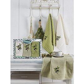 """Набор кухонных вафельных полотенец """"KARNA BELDI"""", v1, 45*65 см - 3 шт"""