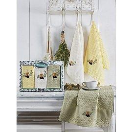 """Набор кухонных вафельных полотенец """"KARNA BELDI"""", v2, 45*65 см - 3 шт"""