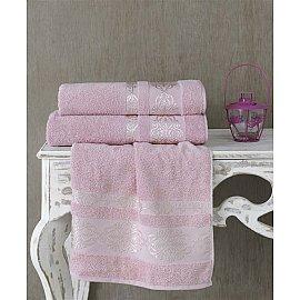 "Полотенце махровое ""KARNA REBEKA"", грязно-розовый, 50*90 см"