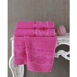 "Полотенце махровое ""KARNA REBEKA"", розовый, 50*90 см"