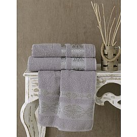 "Полотенце махровое ""KARNA REBEKA"", серый, 50*90 см"