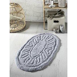 """Коврик для ванной овальный """"MODALIN WENGE"""", серый, 50*80 см"""