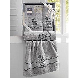 """Комплект махровых полотенец """"KARNA ADVEN"""" (50*90; 70*140), светло-серый"""
