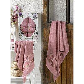Комплект махровых полотенец TWO DOLPHINS SAMANTHA (50*90; 70*140), брусничный