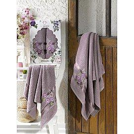Комплект махровых полотенец TWO DOLPHINS SAMANTHA (50*90; 70*140), баклажан