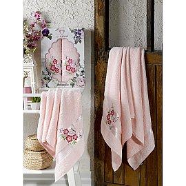 Комплект махровых полотенец TWO DOLPHINS SAMANTHA (50*90; 70*140), светло-розовый